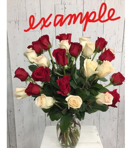2 Dozen Mystery Color Rose Bouquet