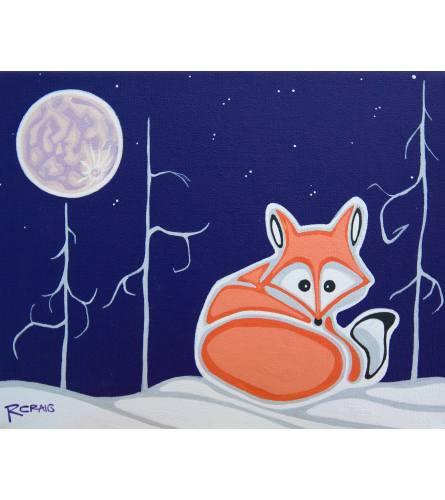 Robbie Craig Little Vixen Big Moon print
