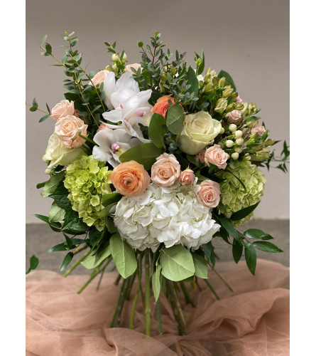 Champagne Toast Handtied Bouquet