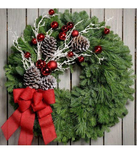 FROZEN PINE WREATH