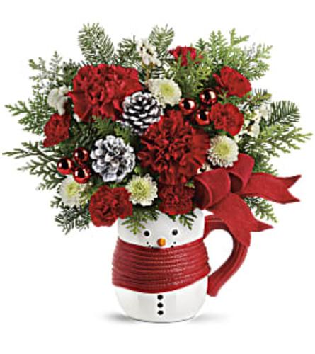 Frosty Mug-o-flowers