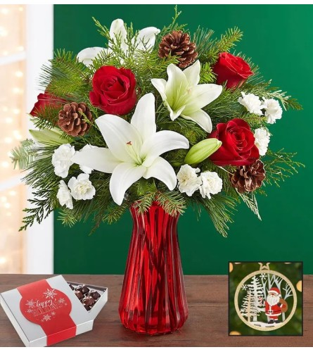 Holiday Bouquet With Chocolates