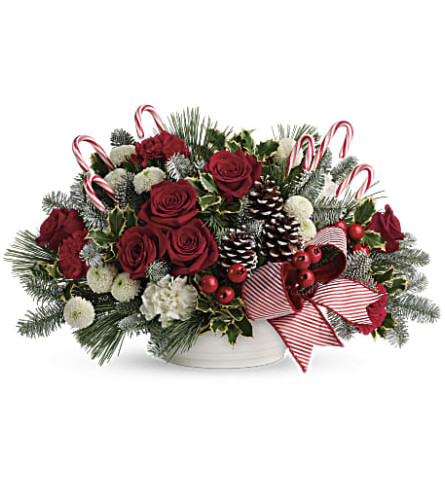 Jolly Candy Cane Bouquet by Teleflora
