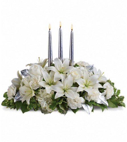 Silver Elegance Centerpiece from Telefloras