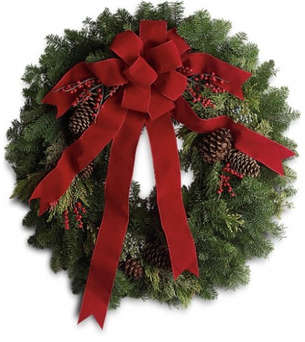 Classic Holiday Wreath by Telefloras