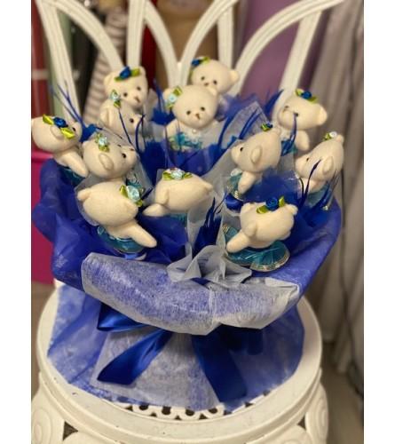 Loving blue teddys