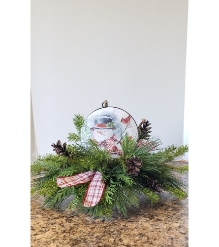 Snowman Ornament Centerpiece