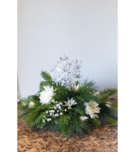 Snowflake Ornament Centerpiece