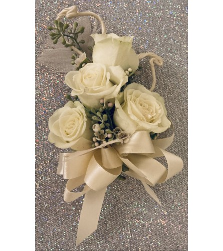 Ivory Rose Corsage
