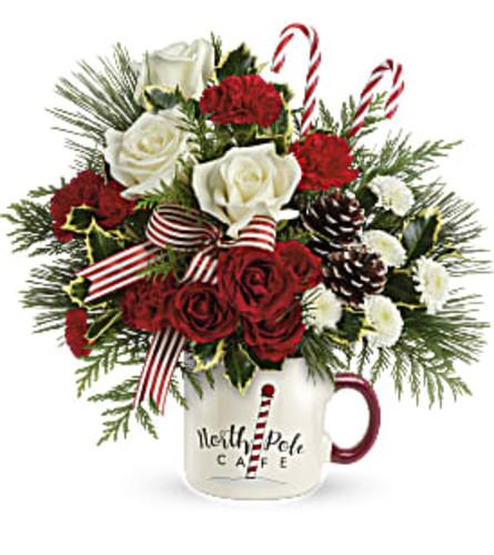 TF Send a Hug North Pole Café Mug