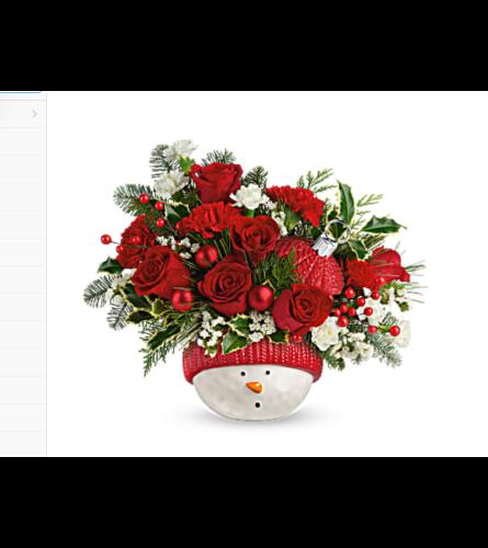 Tf snowman ornament bouquet