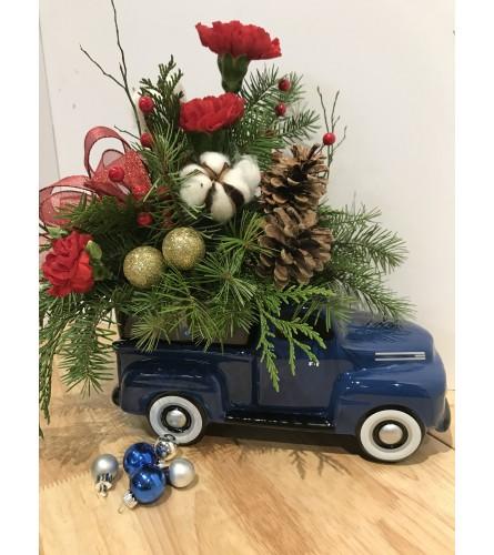 Jennings Vintage Winter Truck