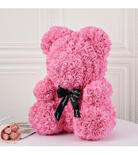 Large Rose Bear Pink With Box 38cm(ONLY AVAILABLE IN BROOKLYN NY)