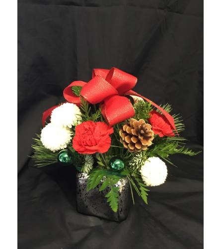 Festive Silver, Red and Green Delight