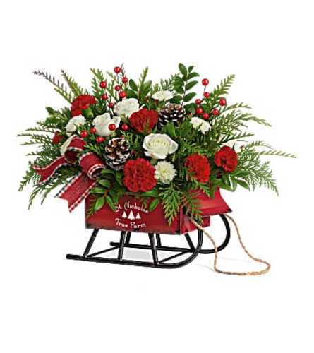 Sleigh Bells Floral Bouquet