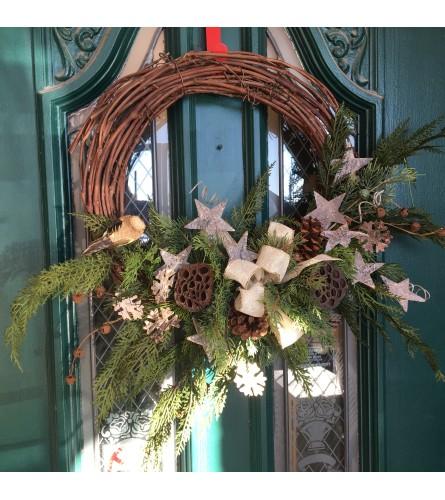 Brown Christmas Wreath