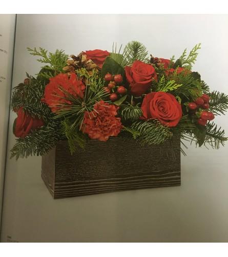 Christmas Box Arrangement