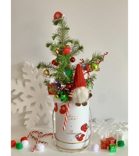 Christmas Tree in a white box