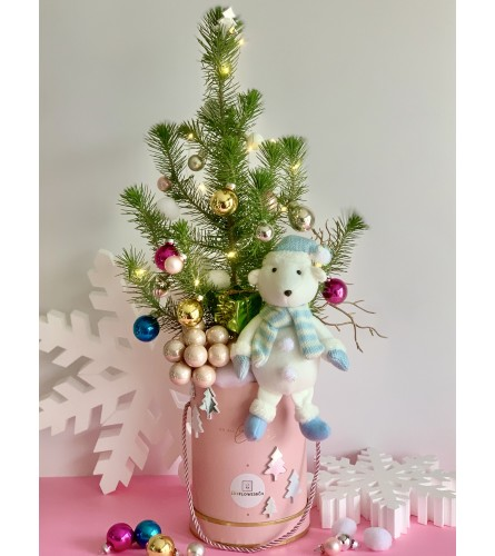 Christmas Tree in a pink box