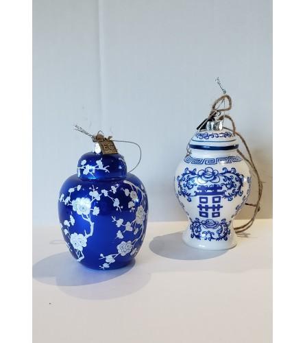 Blue Ginger Jar Ornaments