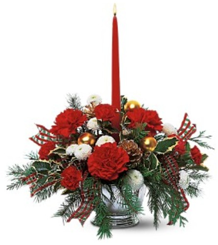 Single Red Taper Centerpiece
