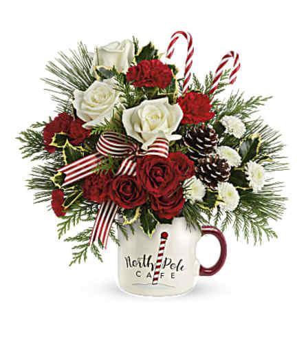 North Pole Flower Mug