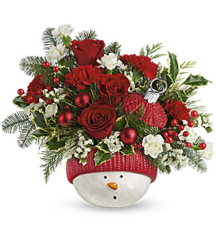 Ornament snow man bouquet