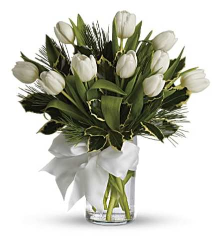 White Tulip Arrangement