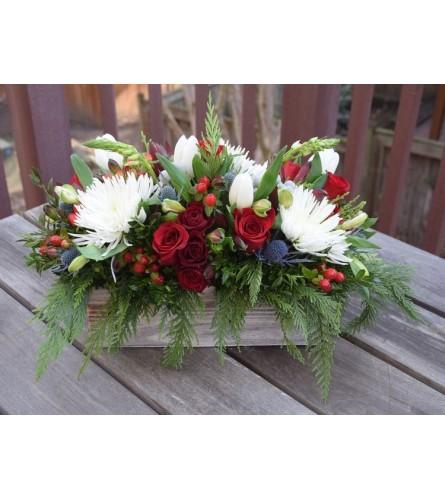 Ho Ho Holiday Box of Flowers