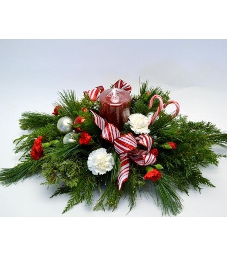 Candy Cane Centerpiece for the holidays