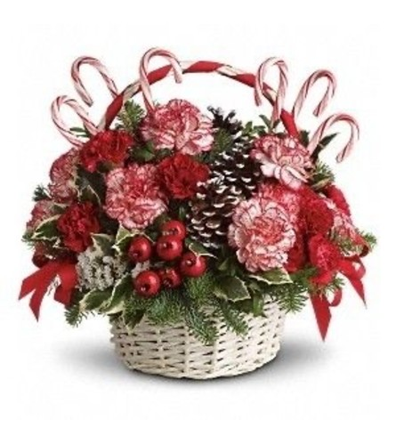 Peppermint Basket bouquet