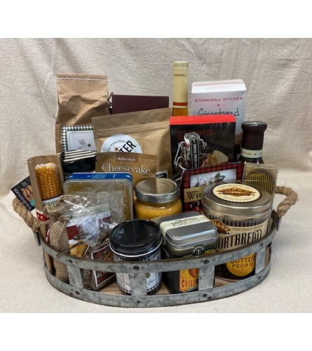 Uban Country Flower co. Snack Basket