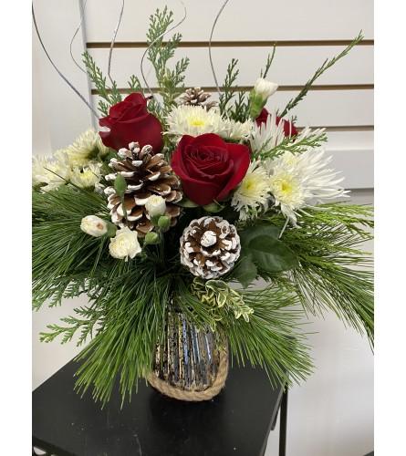 Merry Mercury Christmas Vase