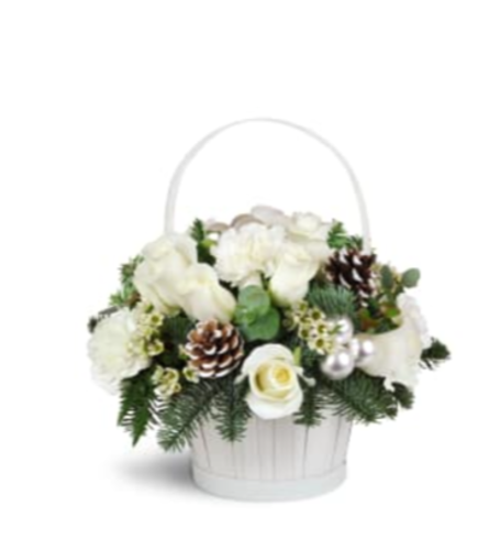 White Christmas Basket