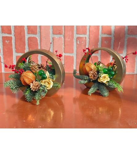Golden Christmas Rings