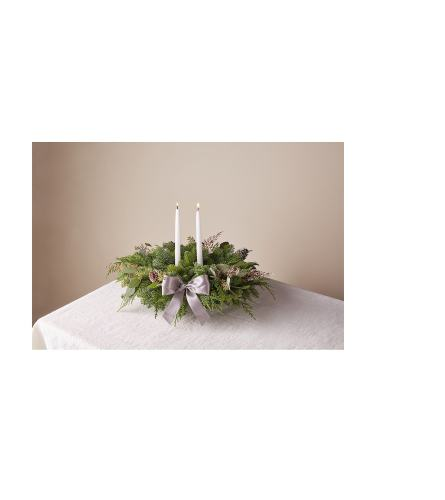 FTD's Eucalyptus & Pine Centerpiece with Candles