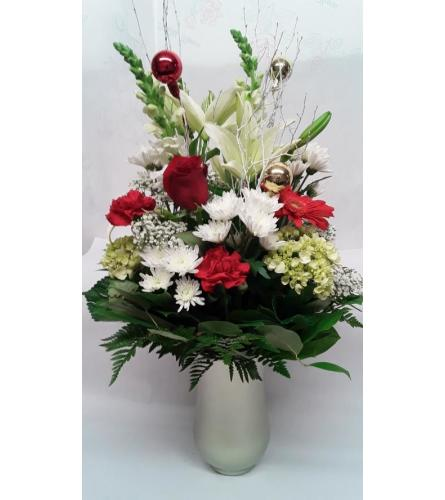 Christmas Floral Vase