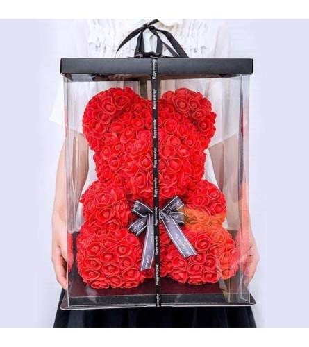 Red Rose Bear Large 16 Inch(ONLY AVAILABLE IN BROOKLYN NY)