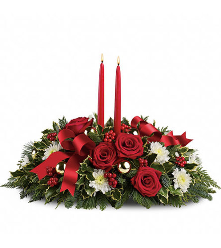 Holiday Shimmer Centerpiece 2020