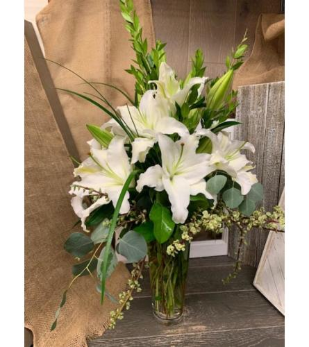 HEAVENLY WHITE LILIES
