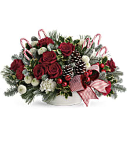 Jolly Candy Cane Bouquets