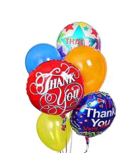 Thank You Mylar And Latex Balloon Set