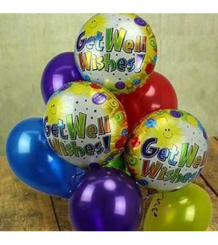 Get Well Soon Mylar And Latex Balloon Set