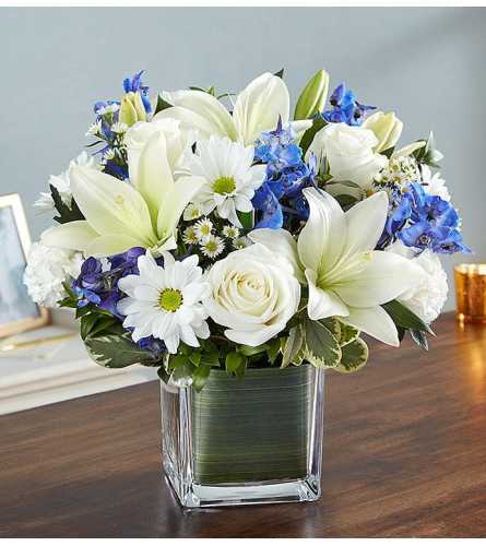 Healing Tears™ Blue & White Bouquet