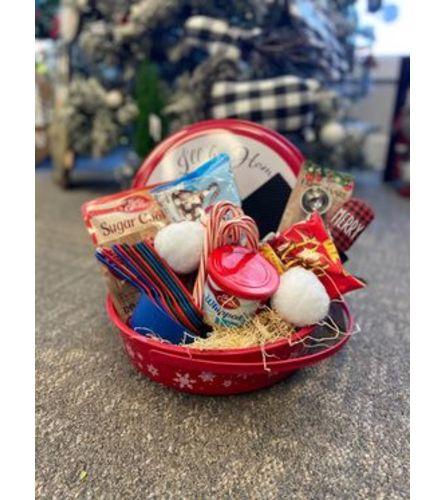 Santa's cookies gift basket