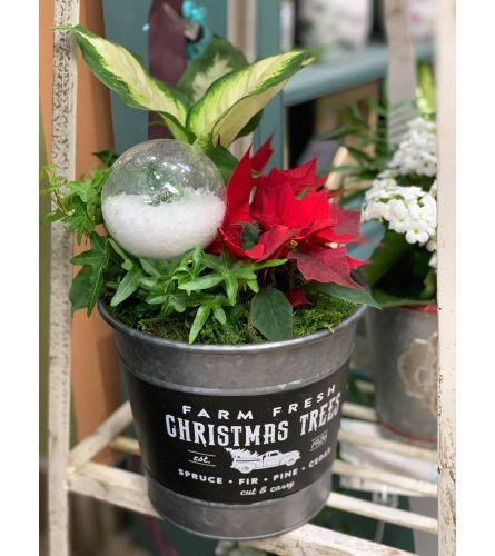 Vintage Christmas Garden - Medium/Silver