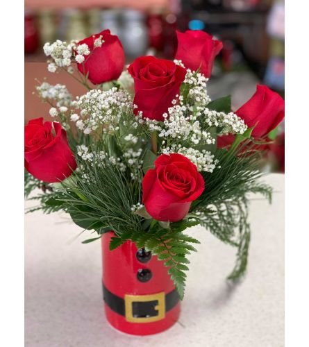 Santa Baby Rose Arrangement