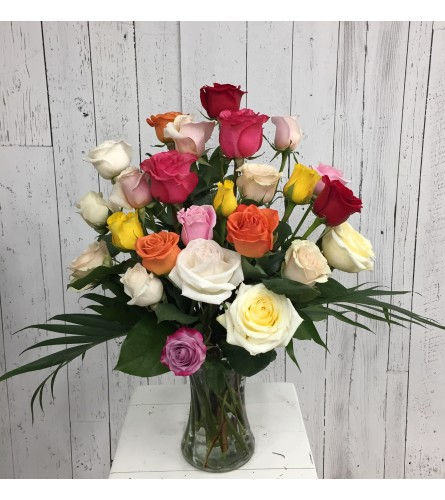 Premium 24 Color Rose Arrangement