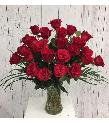 Premium 24 Red Rose Arrangement