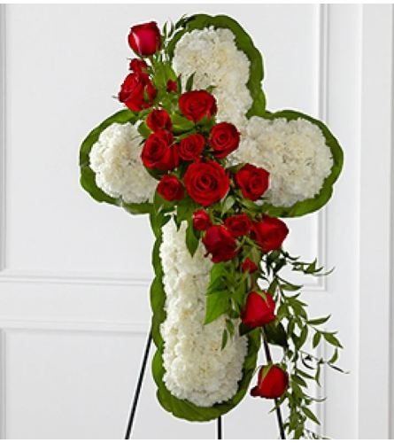 Elegant Floral Cross